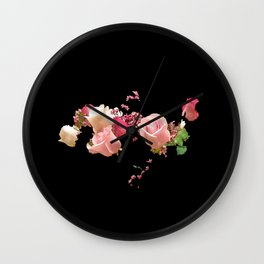 """""""ROSES IN SPACE"""" Wall Clock"""