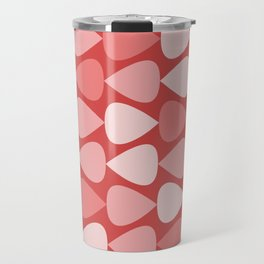 Plectrum Pattern in Pink and Red Travel Mug