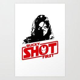 Winter Soldier- Bucky Shot First Art Print