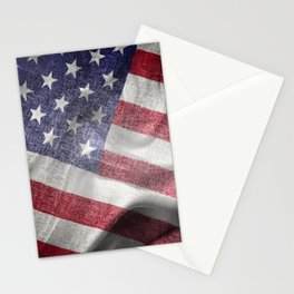 4th of July Fabric of America Stationery Cards