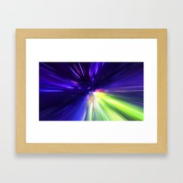 Interstellar, time travel and hyper jump in space Framed Art Print