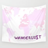 wanderlust Wall Tapestries featuring Wanderlust by Anna Andretta