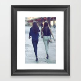 City Walking Framed Art Print