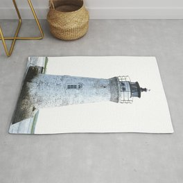 Lighthouse Illustration Rug