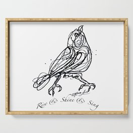 OLena Art Design Rise & Shine & Sing Serving Tray