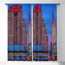 The New Yorker, 481 8th Ave, New York, NY, A Portrait by Jeanpaul Ferro Blackout Curtain