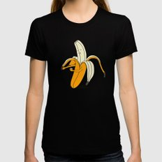 Banana Womens Fitted Tee Black X-LARGE