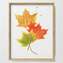 Maple art print, painting Serving Tray