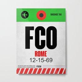 FCO Rome Luggage Tag 1 Metal Print