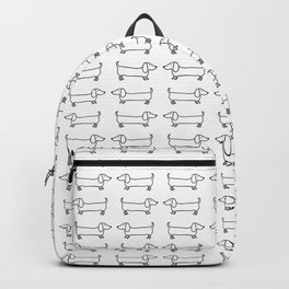 Dachshunds pattern in black and white Backpack
