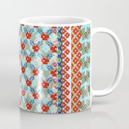 BLUE BLOMS FLOWERS GARDEN  Coffee Mug