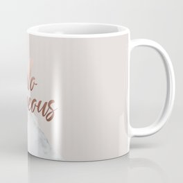 Hello Gorgeous, Meme, Rose Gold, Pink, Marble, Typography Art Coffee Mug