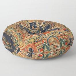 Tantric Buddhist Vajrabhairava Deity 2 Floor Pillow