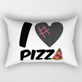 I love pizza Rectangular Pillow