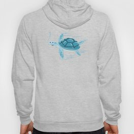 Funny Swimming Turtle Air Bubbles Gift Hoody