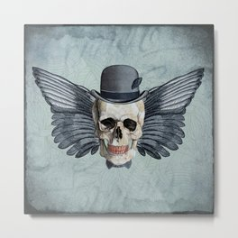 Skull - Fancy Mr X Metal Print