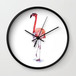 Fashionable  Pink Flamingo Wall Clock