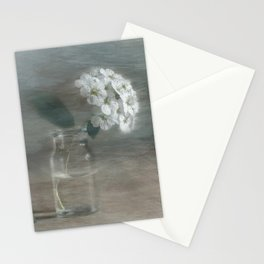 Spirea in vial art Stationery Cards