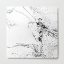 Marble Watercolor Metal Print