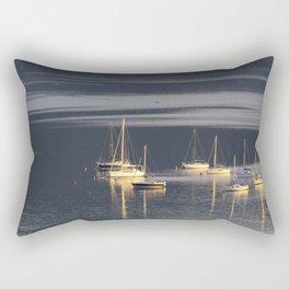 Lake Mondsee Boats Panorama Rectangular Pillow