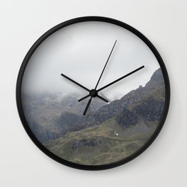 There be Mountains Wall Clock