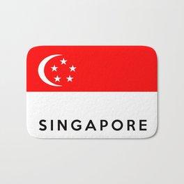 Singapore country flag name text Bath Mat