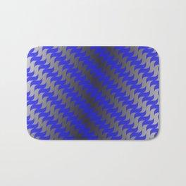 3d Blue Wavy Lines Bath Mat