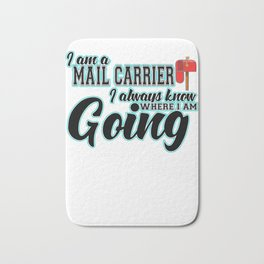Mail Carrier Funny Gift I  Postal Carrier Costume Bath Mat