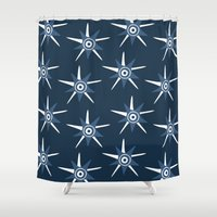starry night Shower Curtains featuring Starry Night by November Tigerlilly