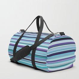 Old Skool Stripes - Sea Foam - Horizontal Duffle Bag