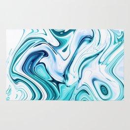 Liquid Marble - aqua & blues Rug