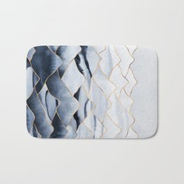 Mountains 2 - Gold Colored Lines Bath Mat