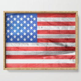 Vintage Old Glory Serving Tray