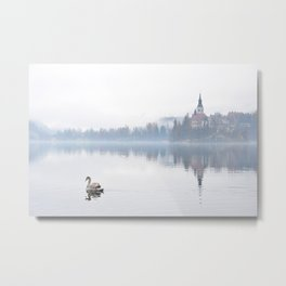 The Mists of Lake Bled Metal Print