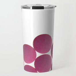 Isolated Pink Pills Texture Travel Mug