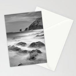 Water. Volcanic rocks. Monochrome Stationery Cards