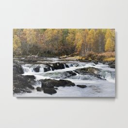 Autumn on the River Affric Metal Print