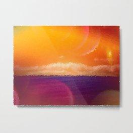 Blue Grass Sea Metal Print