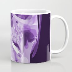 Skull Smoking Cigarette Purple Mug