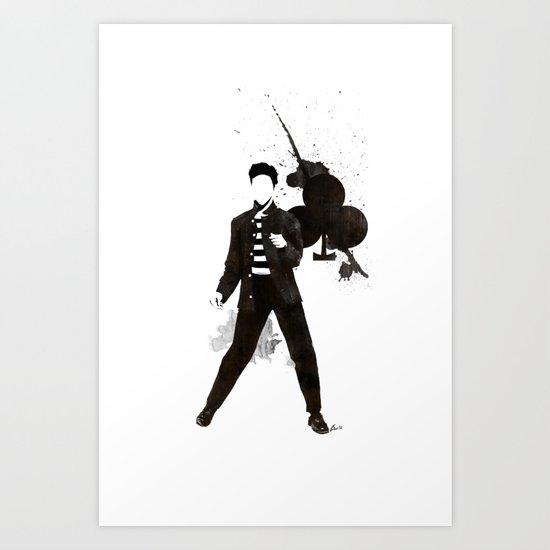 King of Clubs Art Print