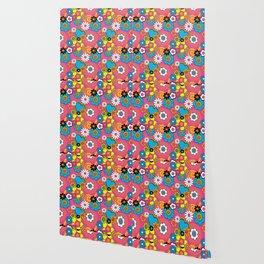 Mod Flowers Wallpaper