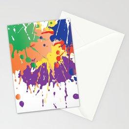 Colourful Paint splash Stationery Cards