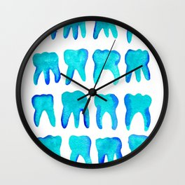 Turquoise Molars - Vertical Wall Clock