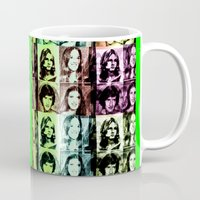 70s Mugs featuring 70s by Geni