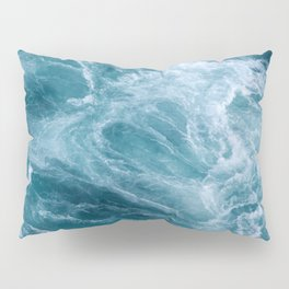 Ocean Storm   Classic Blue Pillow Sham
