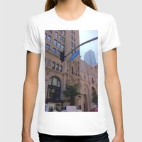 broadway T-shirts featuring Off Broadway by Jacqueline Obispo