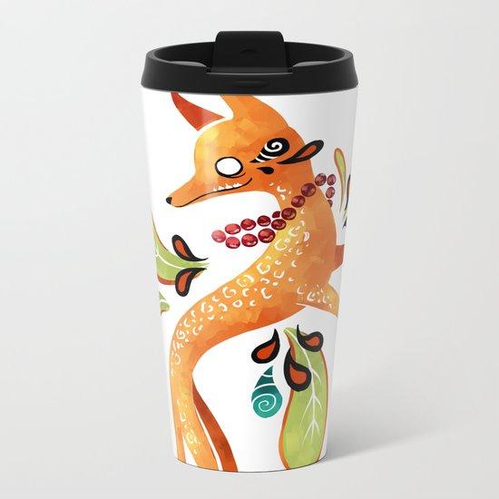 Autumn Fox Metal Travel Mug