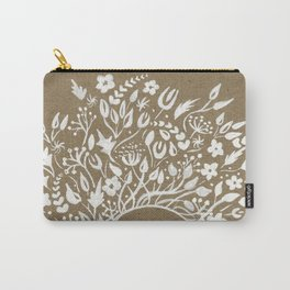 white lace flower frame Carry-All Pouch