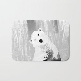 Unique Black and White Polar Bear Design Bath Mat
