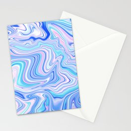 Love Spell Marble Turquoise Pink Cobalt Stationery Cards